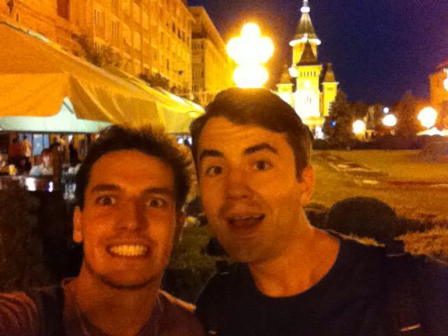Juan și Razvan in Timisoara
