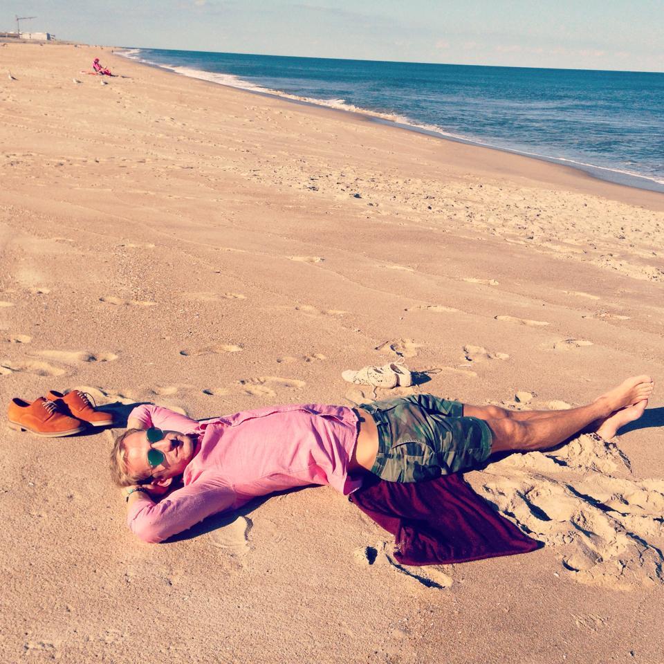 Mihai pe plaja